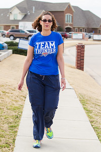 Cristol Minor with Intergris uses walking as a part of her fitness routine.