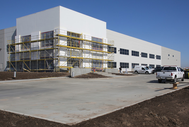 Construction continues at the Greenhill Distribution Center.