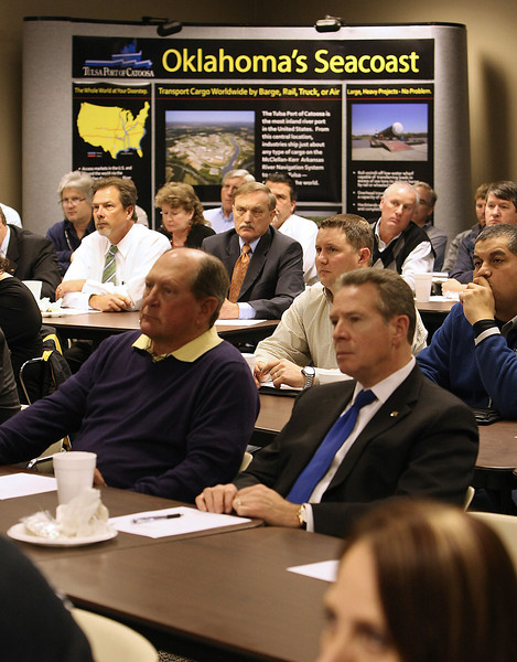 The audience listens to the State of the Port Address Thursday.