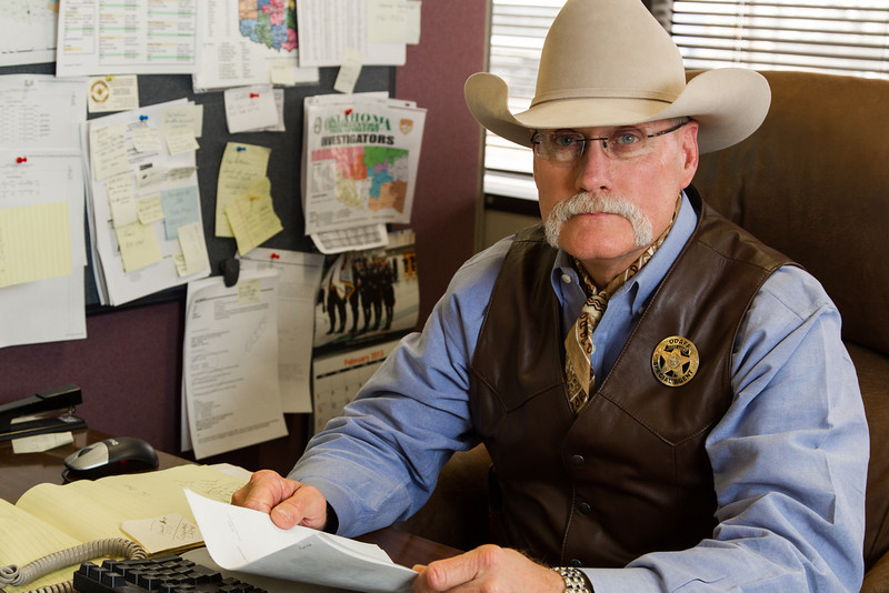 Cheif Agent Jerry Flowers with the Oklahoma Department of Agriculture investigative services.