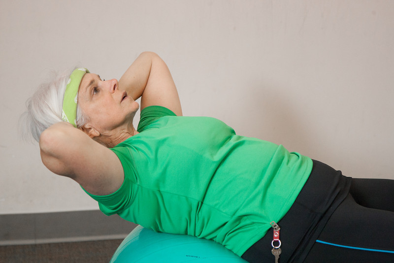 Lori Longo works out at the PACER Fitness Center at Intergris Medical Center