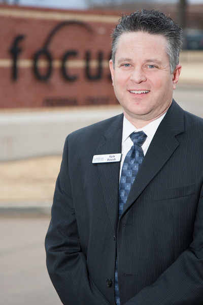 Kyle Roush, manager of Focus Federal Credit Union in Oklahoma City.