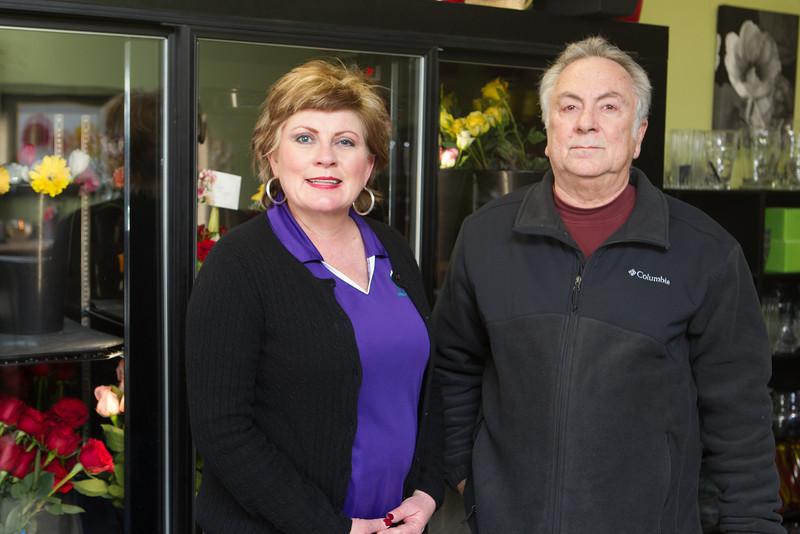 Deidra and David Baker, owners of Pocket it full of Posies florist on Northwest Expressway.