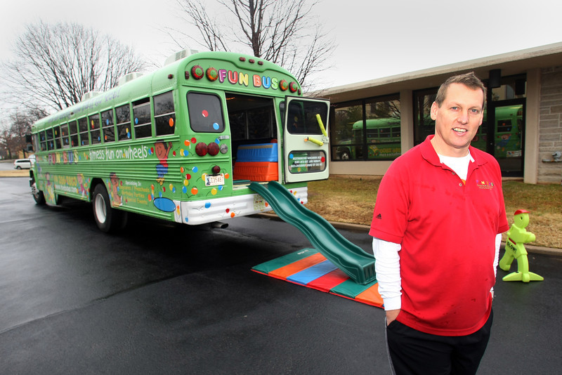 Steve Phillips, Co-Owner of the Fun Bus, pauses for a photo.