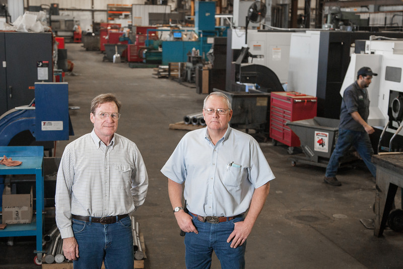 Bob Gilson and Bob Drain, co-owners of Applied Industrial Machining.