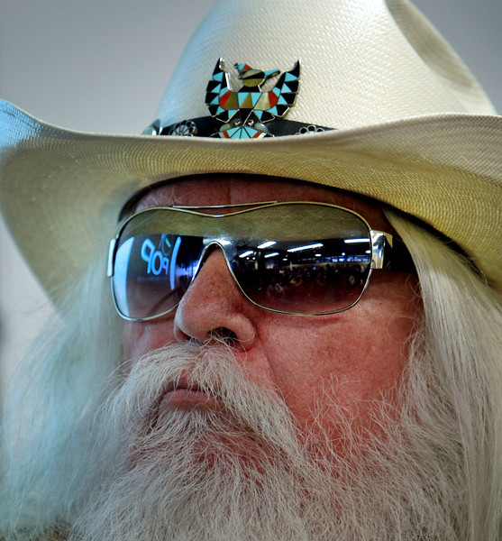 Leon Russell at the announcement that the Oklahoma Historical Society acquisition of a large collection of works featuring a legendary, Grammy Award-winning Oklahoma musician.