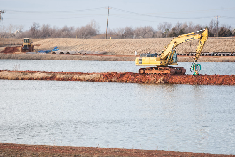 Construction at the water treatment facility north of Lake Hefner.