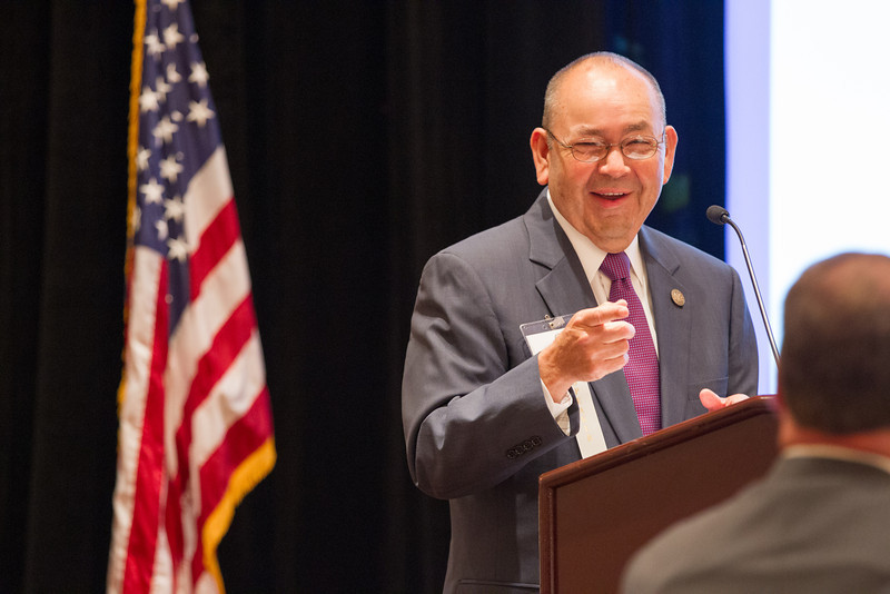 Gov. Bill Anoatubby addressed tribal relations to the National Luitenant Governers Association meeting at the Skirvin Hotel in Oklahoma City, OK.