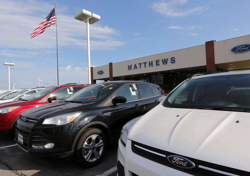 The Mathews Ford dealership in Broken Arrow.