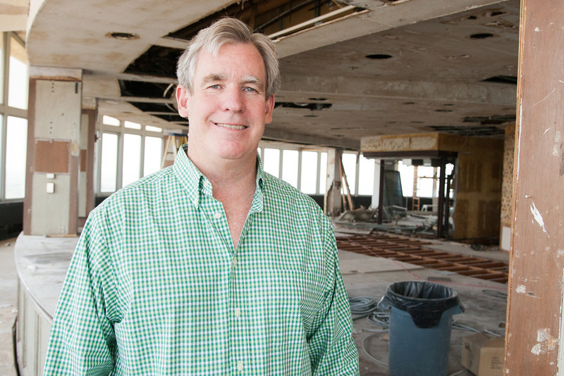"Kevin George at the future site of his resturaunt ""The George"" located atop Founders Tower in Oklahoma City, OK."