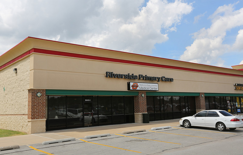 The Riverside Primary Care,OSU Medical Center, clinic at 9645 Riverside Parkway in south Tulsa.