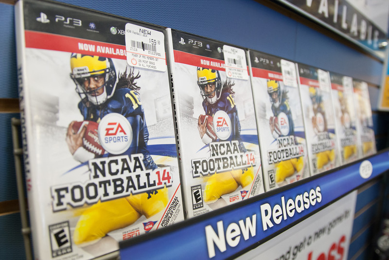 NCAA Football '14 on sale at Game Stop at Belle Isle in Oklahoma City, OK.