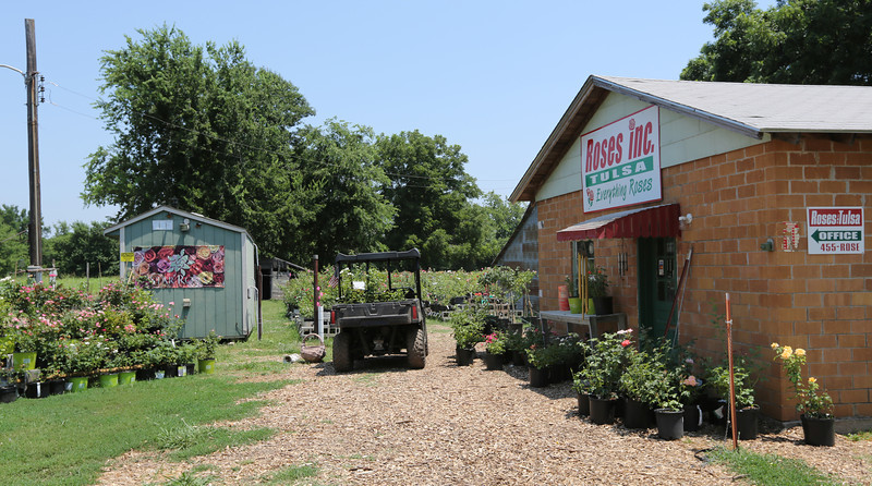 The Roses Inc. greenhouse in Broken Arrow.