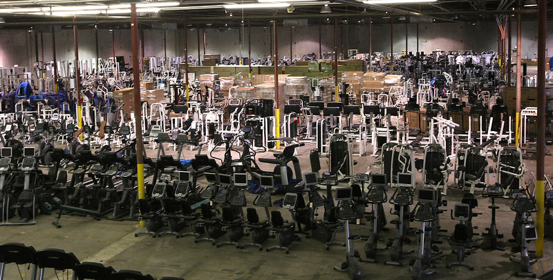 The Commercial Fitness Concepts Tulsa warehouse.