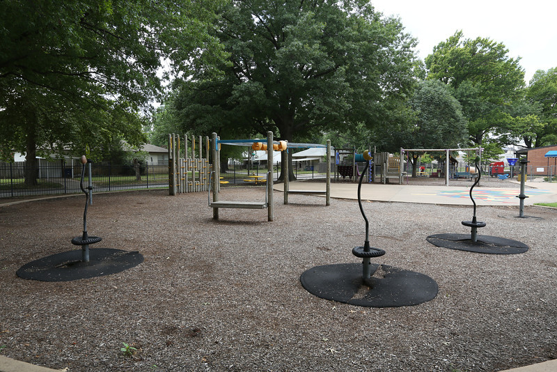 The current playground at the Church of Saint Mary in Tulsa.