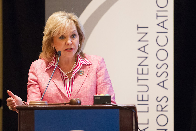 Oklahoma Governer Mary Fallin spoke to the Nation Luetant Governers Association meeting in Oklahoma City, OK.