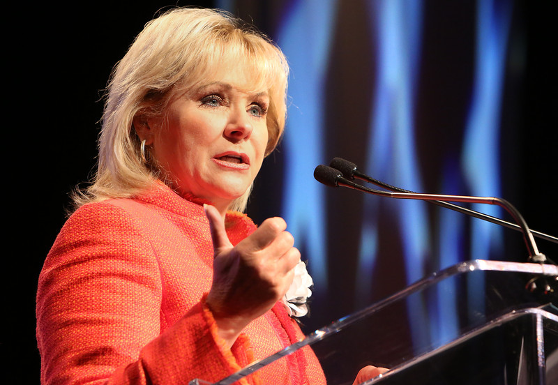 Governor Mary Fallin delivers the State of the State address in Tulsa.