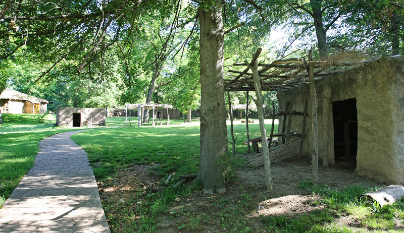 Structures at the Cherokee Cultural Center in Tahlequah.