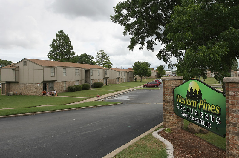 The Western Pines Apartments in west Tulsa.