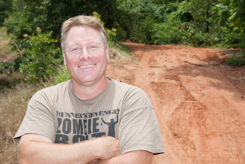 David Hennessey at his property in Luther, OK. On July 13 the 110 acre site will be hosting the Red Mud Run.