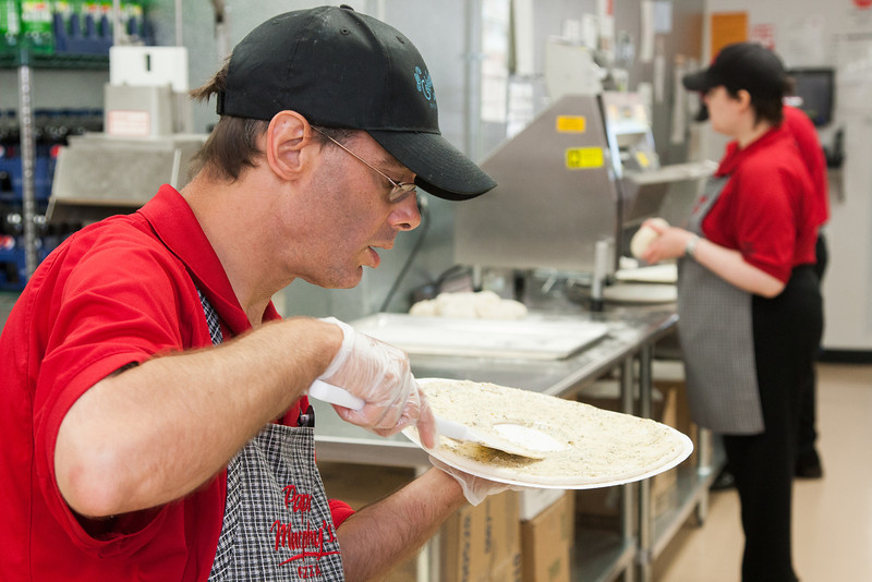 Willie Long works at the new Papa Murphy's at 2220 NW 23rd in Oklahoma City, OK. The franchise is owned and staed by Dales Rodgers Training Center.