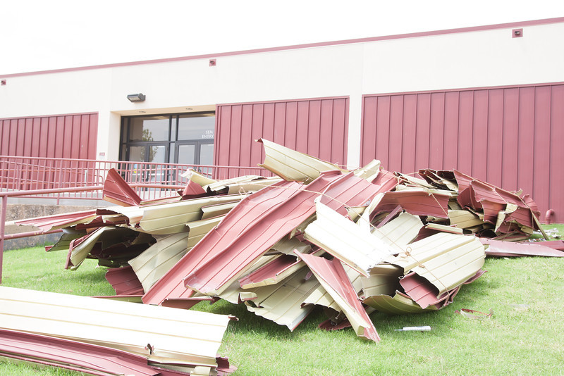 Oklahoma CIty Community Colleg is shut down for a week for to cleanup storm damage to the campus.