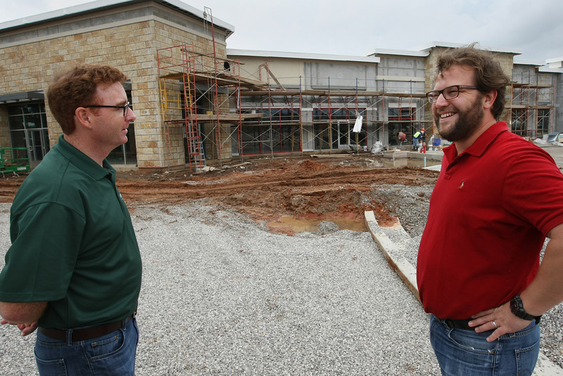 Jim O'Connor vice President of Business operations and Elliot Nelson principle owner of the McNellies Group discuss the progress of the new Yokozuna resturaunt being built in south Tusa.