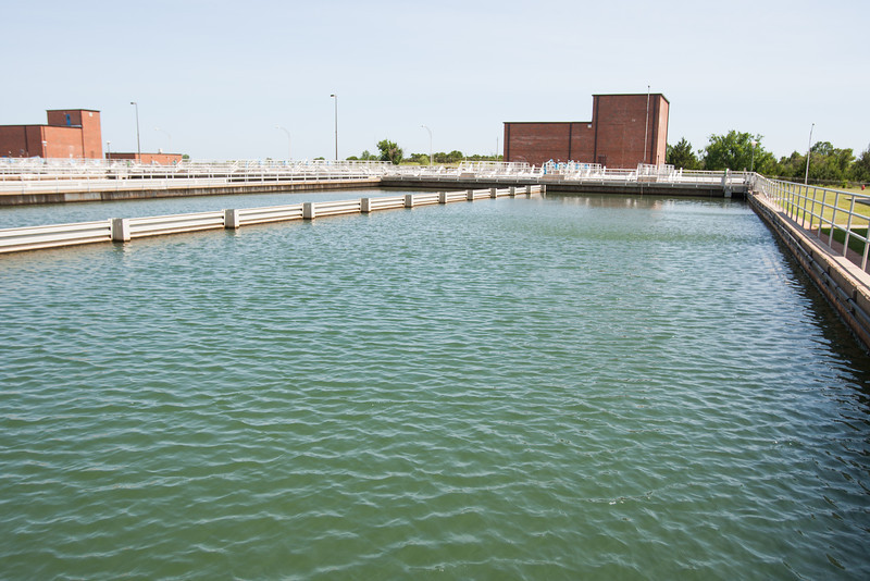 Oklahoma CIty's water treatment facility at Lake Stanly Draper.