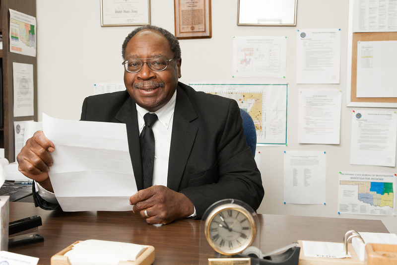 Toomy Johnson is a forensic accountant with the Oklahoma State Bureau of Investigation.