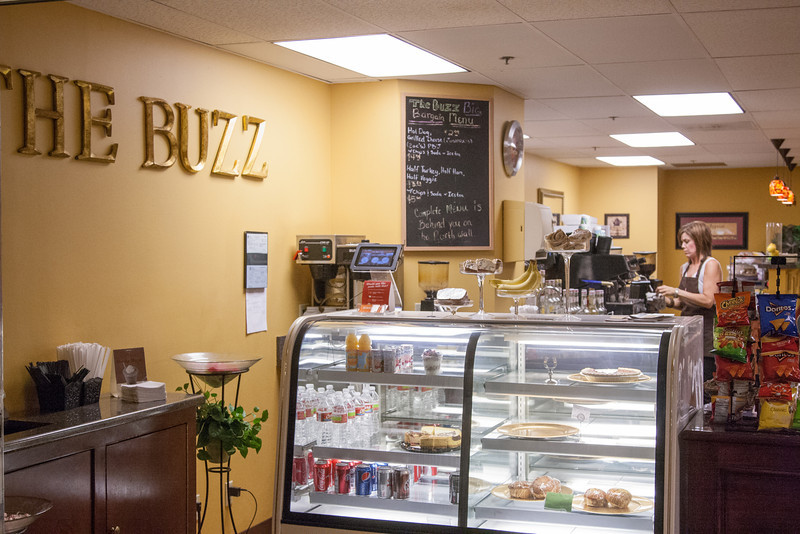 The Buzz cafe located in the Concorce tunnles located under downtown Oklahoma City, OK.