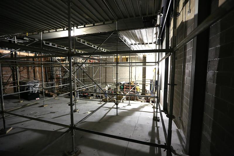 A move auditorium under construction the Circle Cinema Theatre in Tulsa.