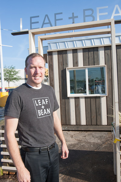 MarkSeibold, owner of Leaf & Bean located on the northwest corner of NW 36th and May in Oklahoma City, OK.