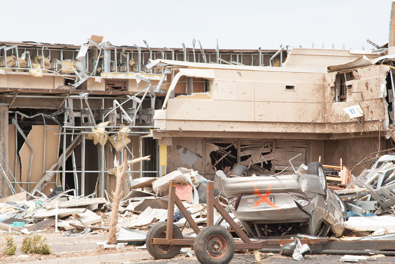 The Moore Medical Center was destroyed in an EF5 tornado that struck Moore, OK on May 20, 2013.
