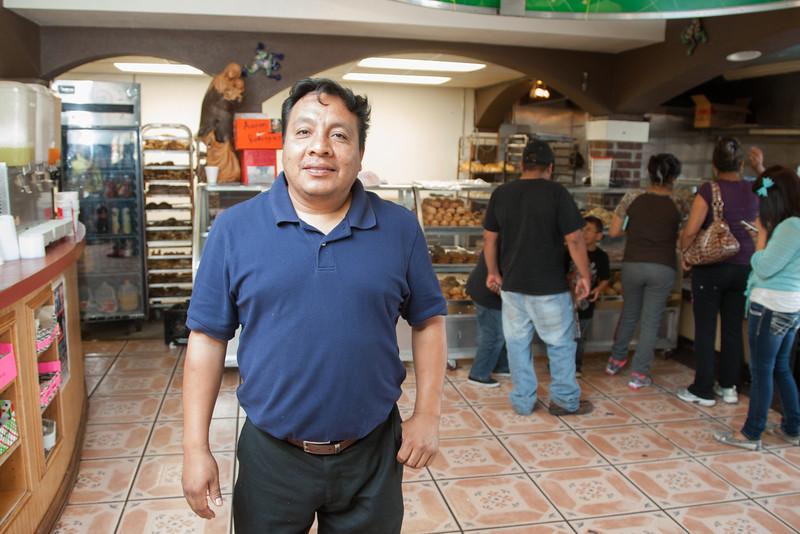 Ramiro Padilla, owner of La Oaxaquena Bakery and Resturaunt at 741 SW 29th in Oklahoma City, OK.