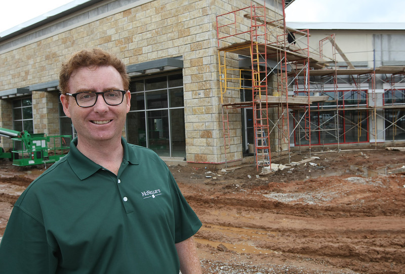 Jim O'Connor vice President of Business operations  of the McNellies Group outside the new Yokozuna resturaunt being built in south Tusa.