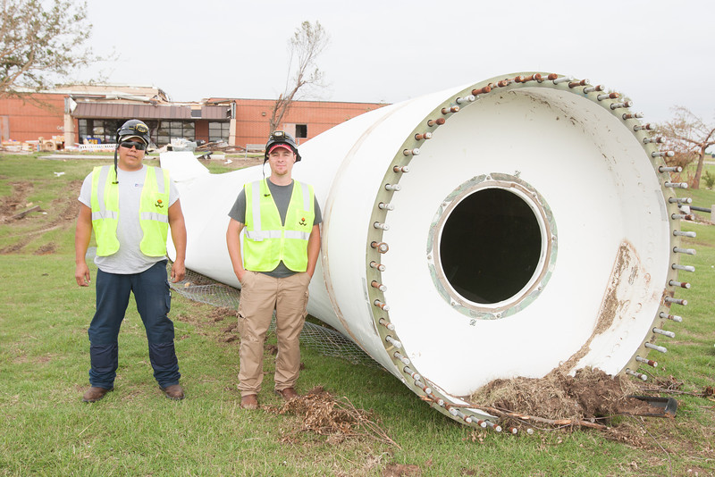 Jason Quiver and Sean Hughes both teach in the wind energy program at Cleveland County Technology Center.