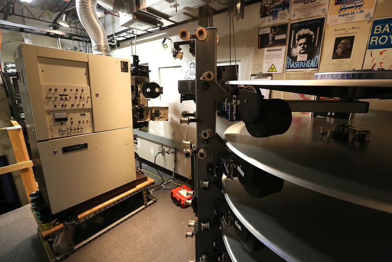 The projection room the Circle Cinema Theatre in Tulsa.