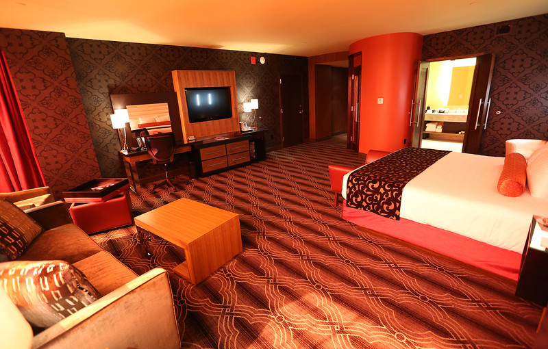 A typical room in the new Hard Rock Casino's new addition.