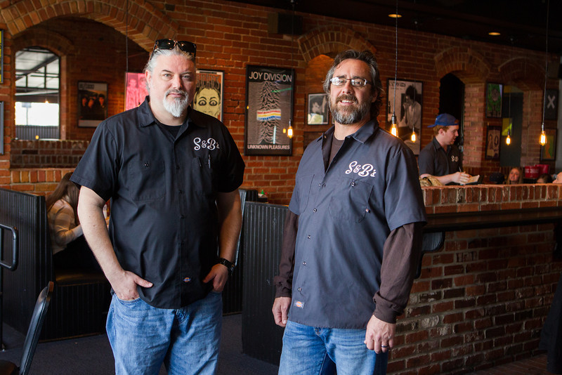 Bryan Neel and Shannon Roper, founders and co-owners of S&B Burgers.