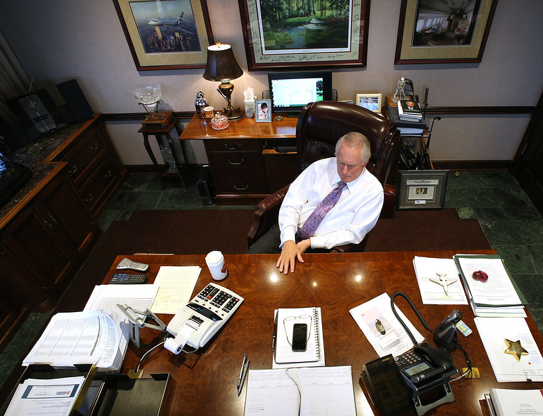 Mike Case at his Tulsa Office