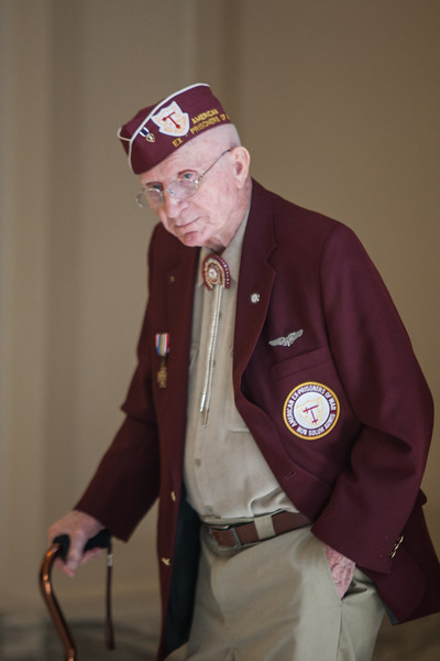 Ex-prisoner of war and vetern Dilbert Coulter attended Veterns Awareness Day at the State Capitol.