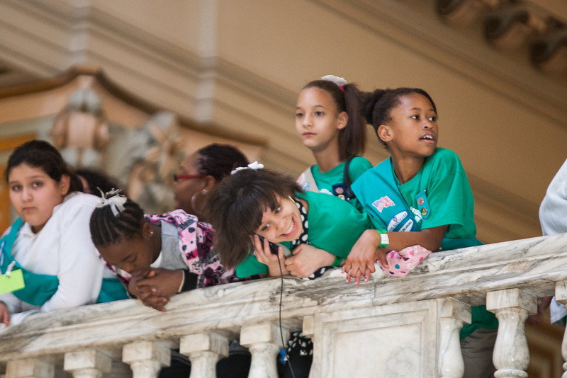 March 20th was Girl Scout day at the State Capitol.