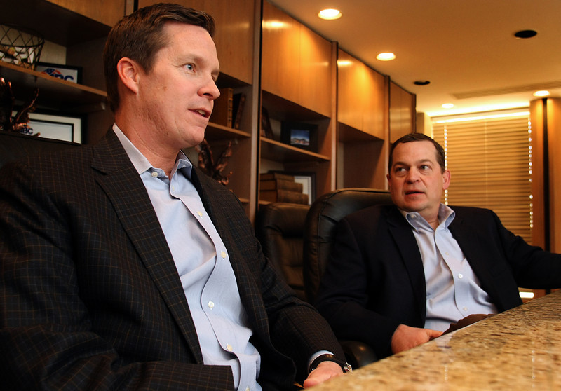 John Rupe Jr., Principal & Broker of NAI Petrous and Co-Owner Mark D. Helmer.