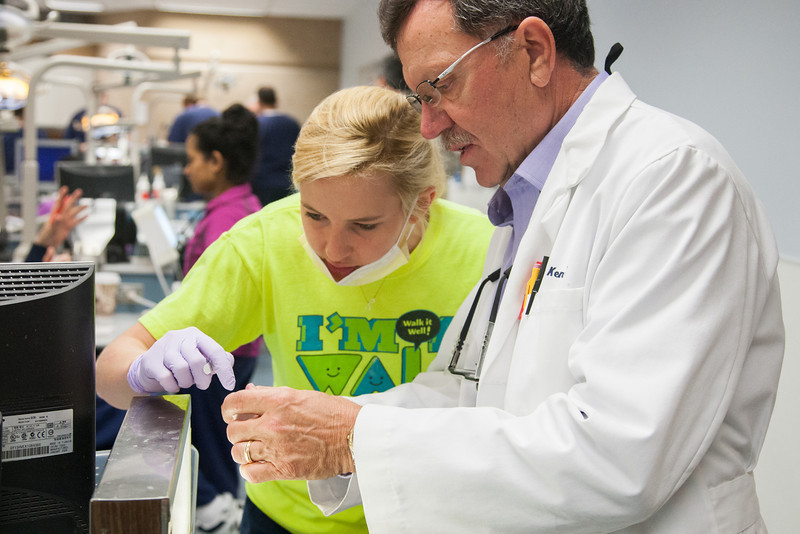 Students at the OU school of dentistry learn endondicts and how to perform root canals.