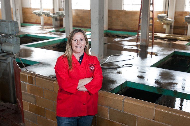 Leigh Ann Kitsmiller is the water quality lab manager for the City of Oklahoma City.