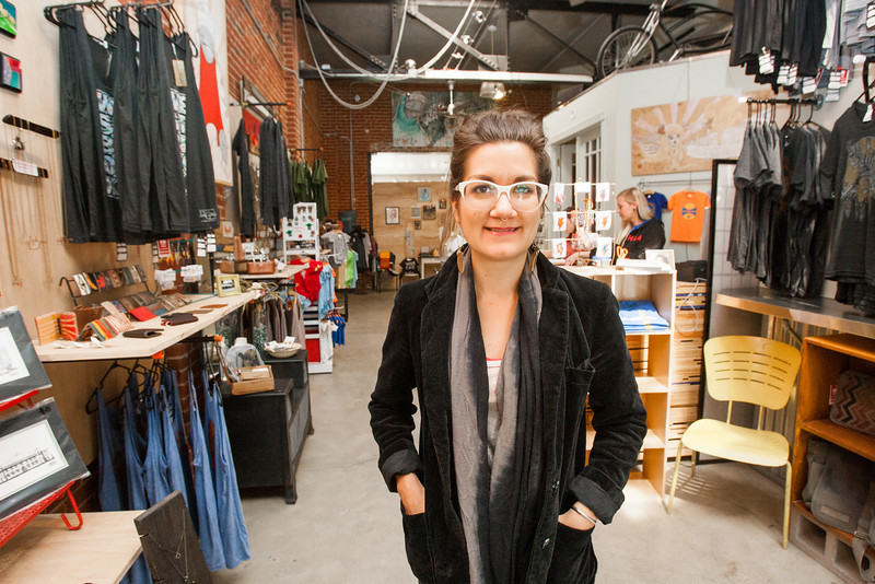 Amanda Bradway, owner of DNA Gallery in the Plaza District on NW 16th.
