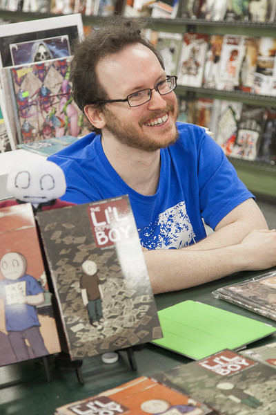 Steven Struble, writer of Li'l Depressed Boy comics.