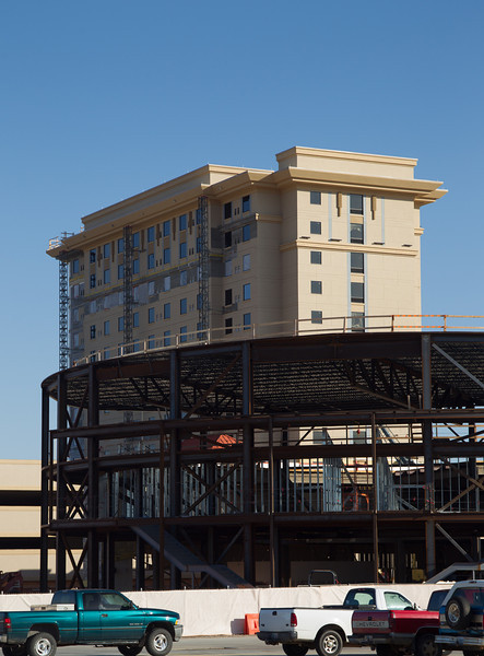 Firelake Grand Casino will soon be completeing the addition of a hotel.
