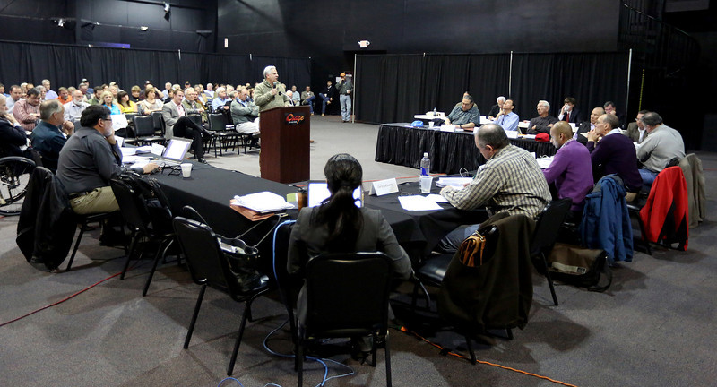 The osage tribe negotiated rule making committee at a recent hearing discussing  proposed changes in oil and gas laws.