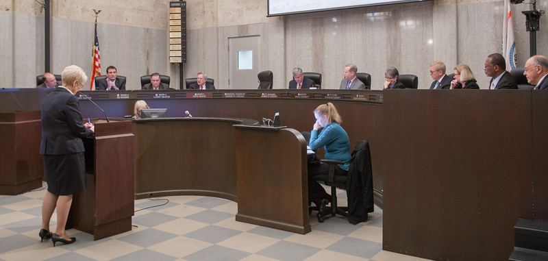 Marsha Slaughter, Director of Utilities for Oklahoma CIty, spoke with City Council about the future of the cities water needs.